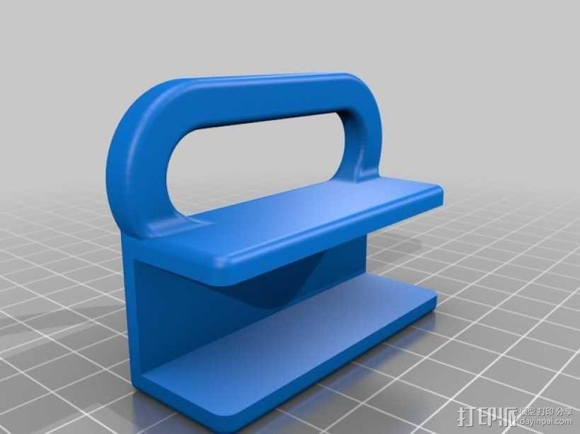 侧铣刀工具架 3D模型  图1