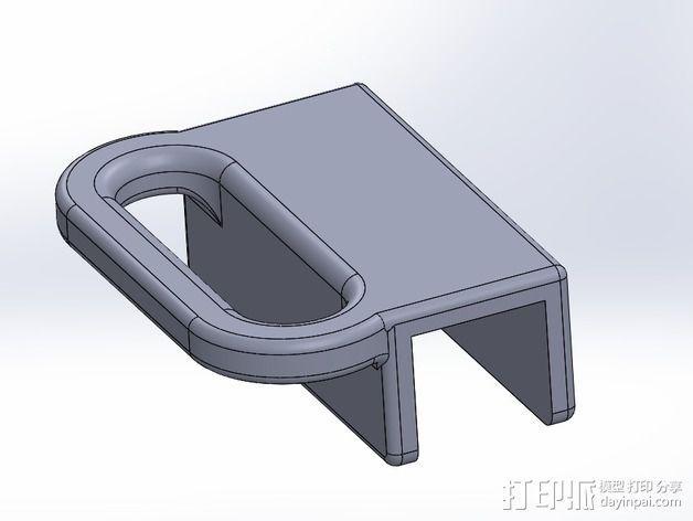 侧铣刀工具架 3D模型  图3