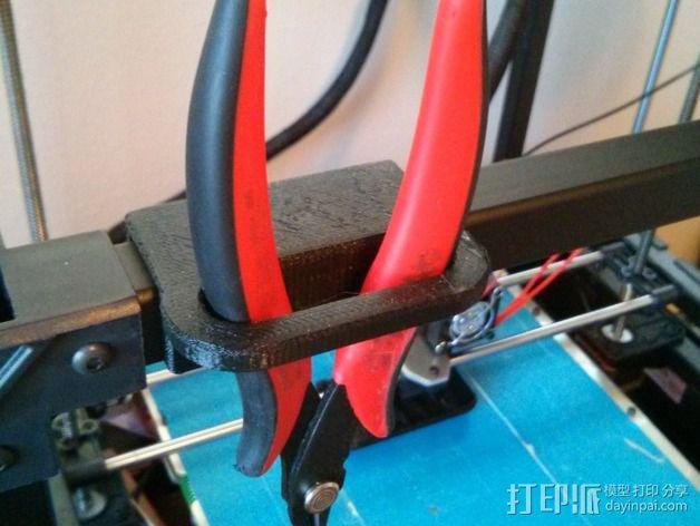 侧铣刀工具架 3D模型  图2
