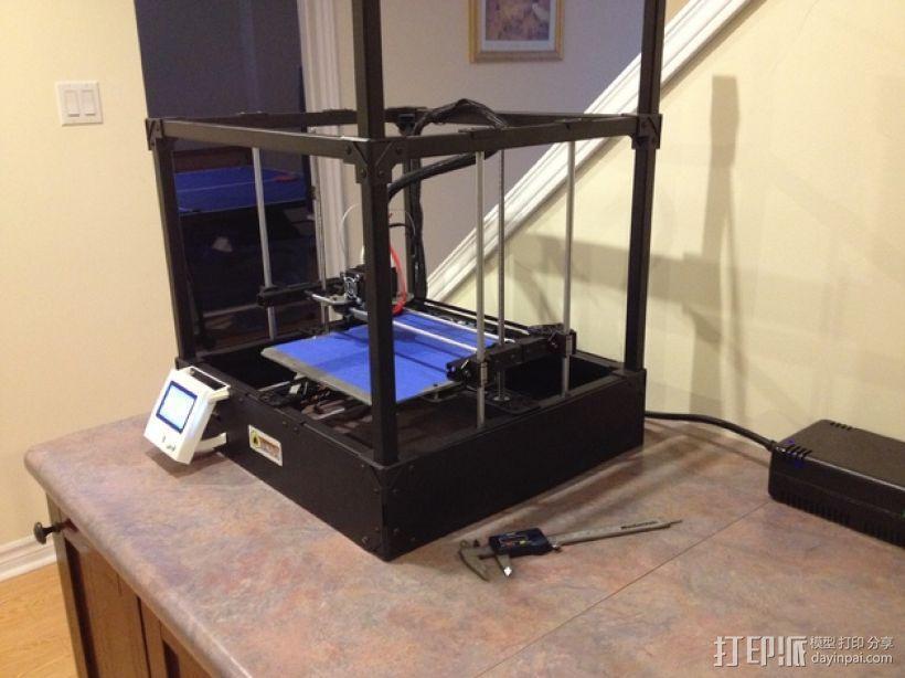 Rigidbot打印机智能控制器盒子 3D模型  图1