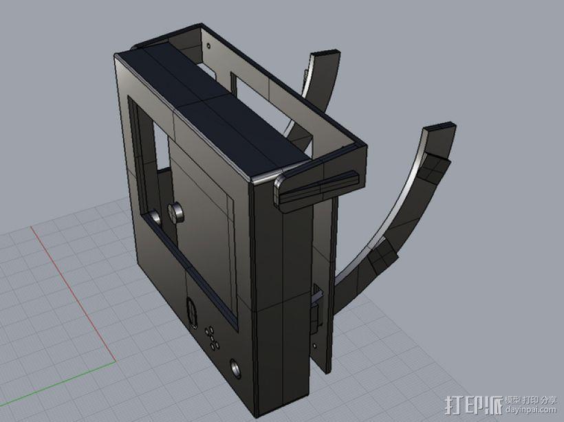Rigidbot打印机智能控制器盒子 3D模型  图2