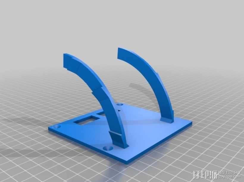 Rigidbot打印机智能控制器盒子 3D模型  图4