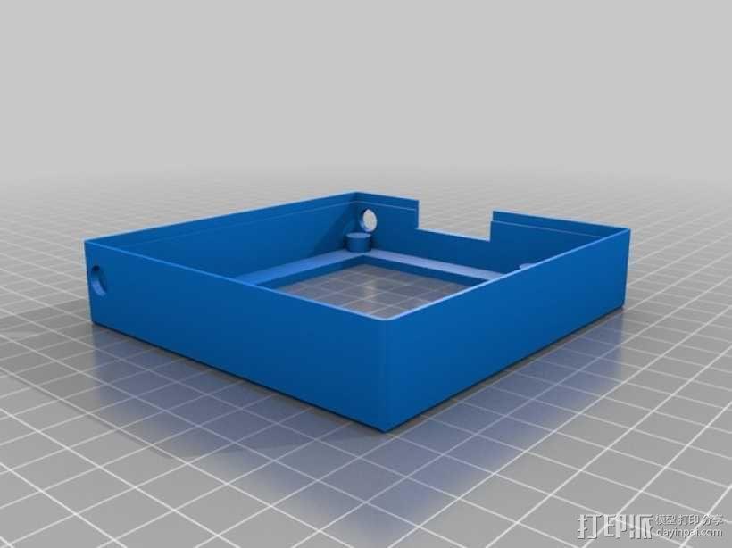 Rigidbot打印机智能控制器盒子 3D模型  图3