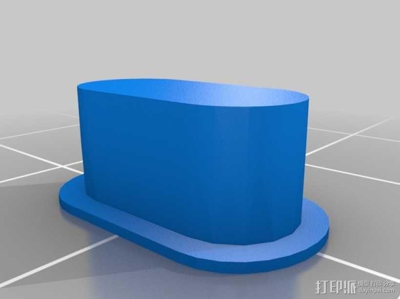 Rigidbot打印机智能控制器盒子 3D模型  图6