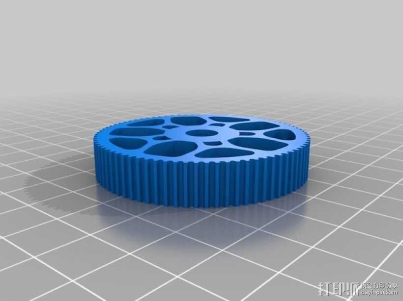齿轮轴承 3D模型  图2