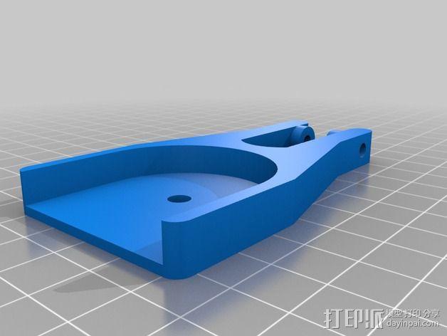打印机滑轮滑杆套组 3D模型  图3