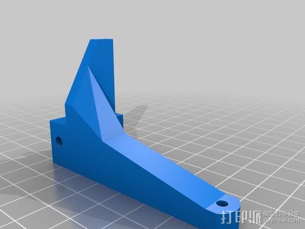 打印机滑轮滑杆套组 3D模型  图4