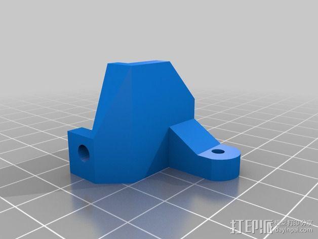 打印机滑轮滑杆套组 3D模型  图6