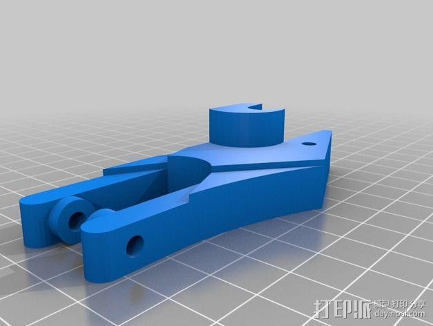 打印机滑轮滑杆套组 3D模型  图7