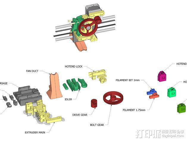 LUCAS 挤出机 3D模型  图16