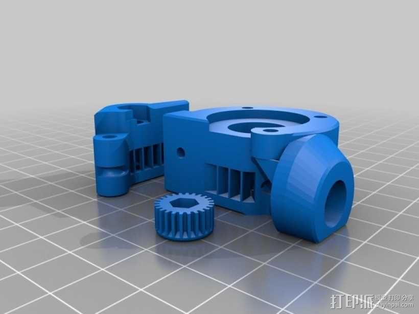 Kossel mini打印机挤出机 3D模型  图4