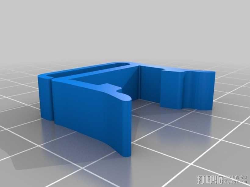 打印机材料夹  电缆夹 3D模型  图2