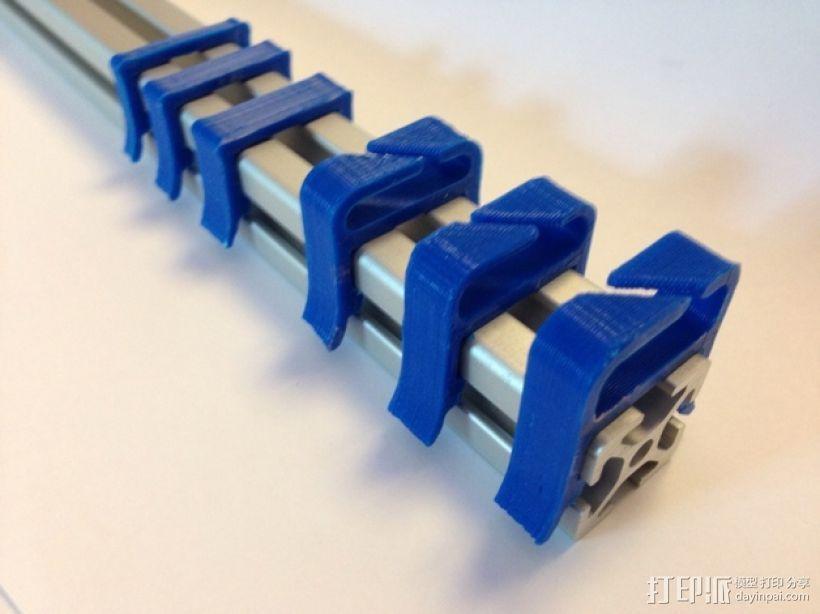 打印机材料夹  电缆夹 3D模型  图1