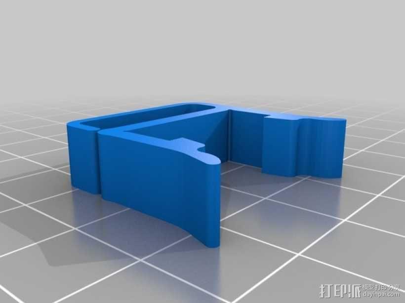 打印机材料夹  电缆夹 3D模型  图3