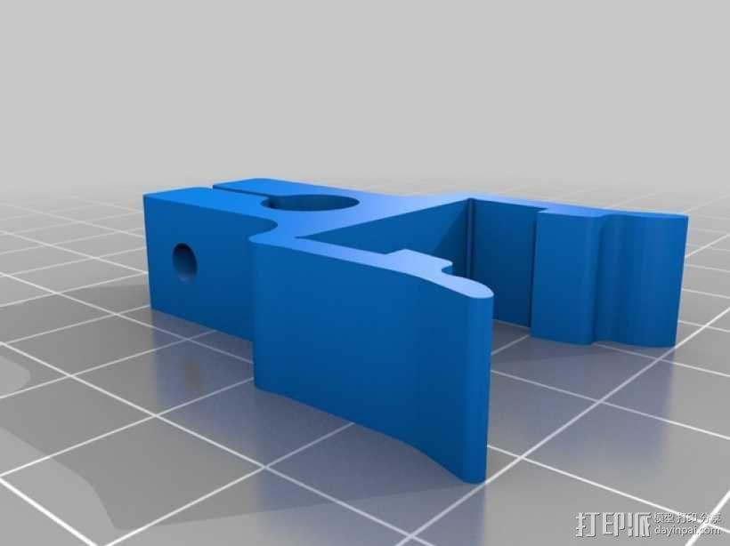 打印机材料夹  电缆夹 3D模型  图5