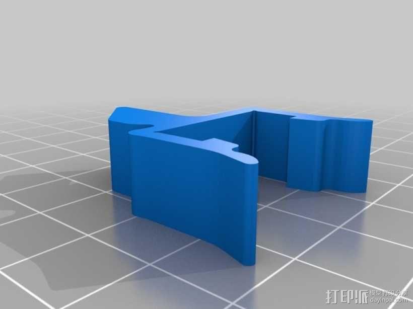 打印机材料夹  电缆夹 3D模型  图7