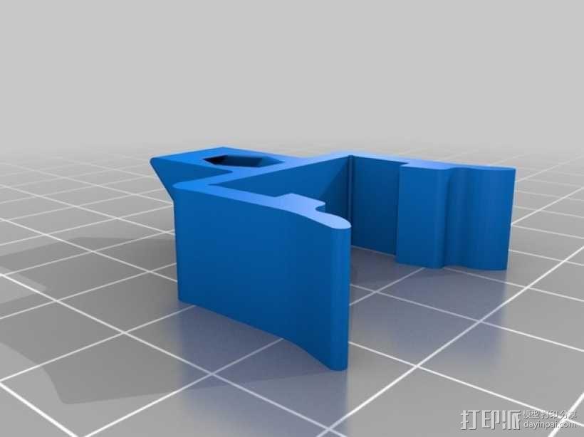 打印机材料夹  电缆夹 3D模型  图6