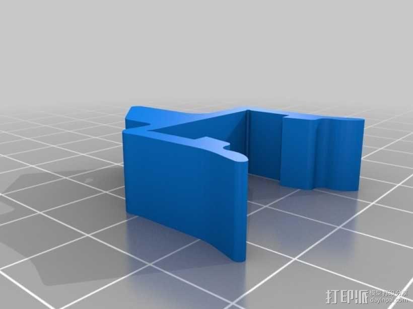 打印机材料夹  电缆夹 3D模型  图8