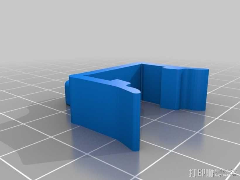 打印机材料夹  电缆夹 3D模型  图10