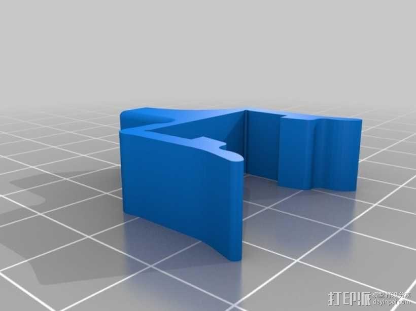 打印机材料夹  电缆夹 3D模型  图9