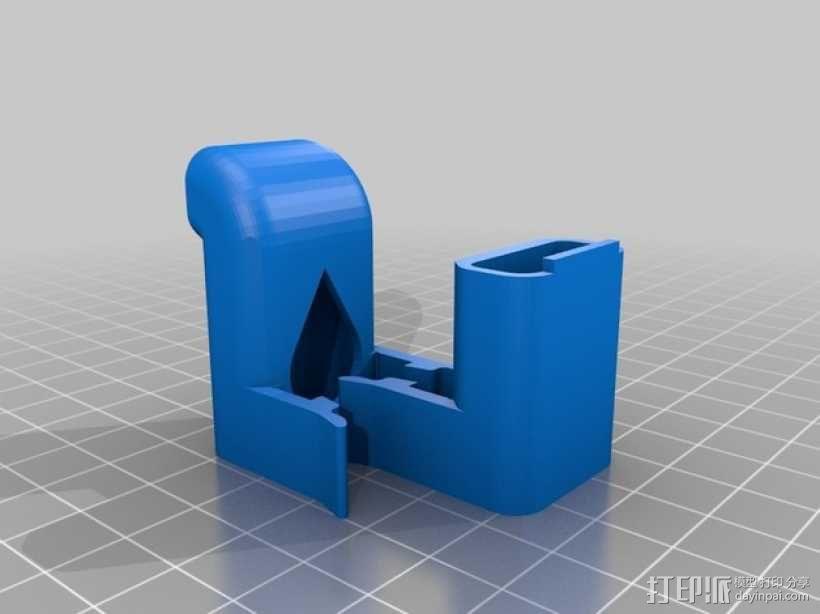 打印机材料夹  电缆夹 3D模型  图11