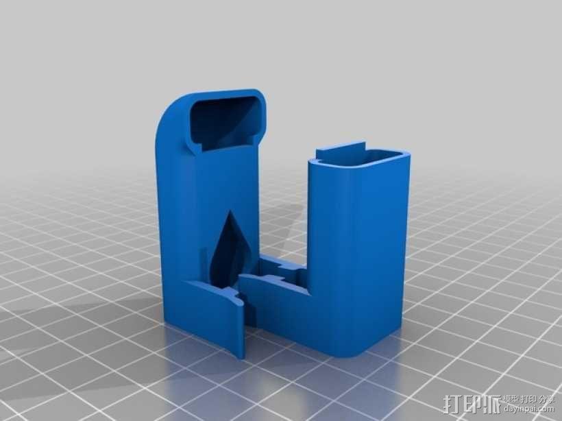 打印机材料夹  电缆夹 3D模型  图12