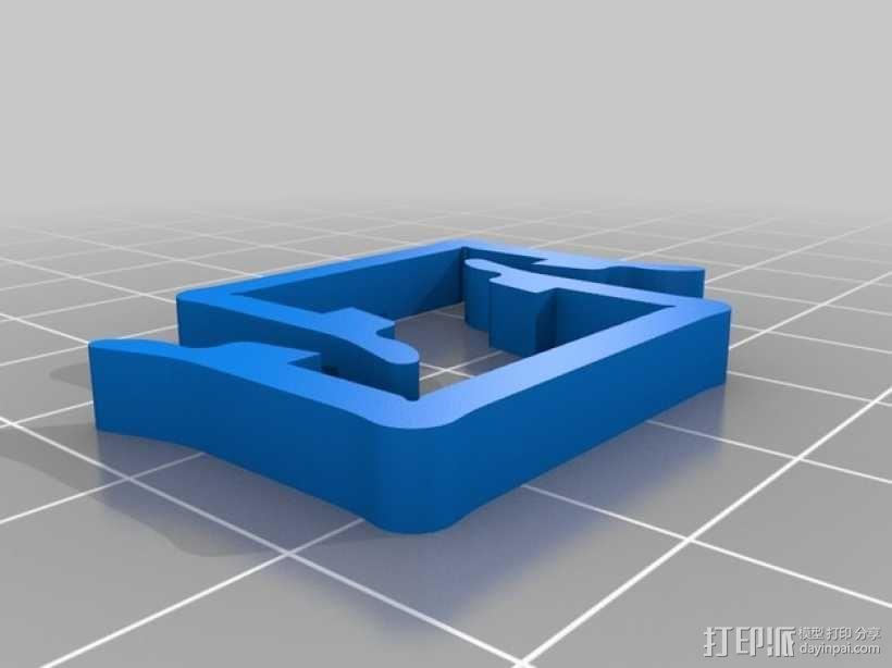 打印机材料夹  电缆夹 3D模型  图14
