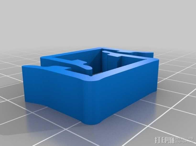 打印机材料夹  电缆夹 3D模型  图16