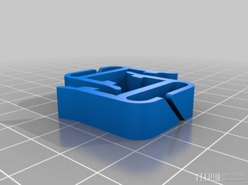 打印机材料夹  电缆夹 3D模型  图17