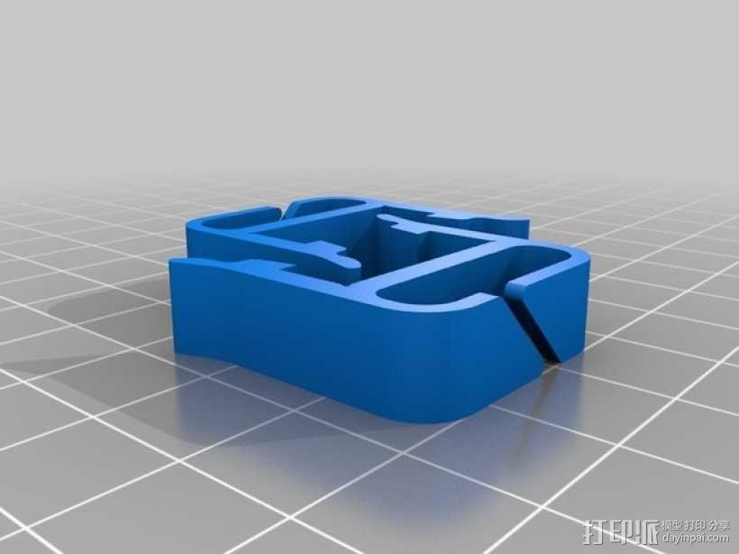 打印机材料夹  电缆夹 3D模型  图18