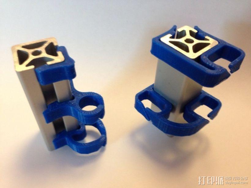 打印机材料夹  电缆夹 3D模型  图20