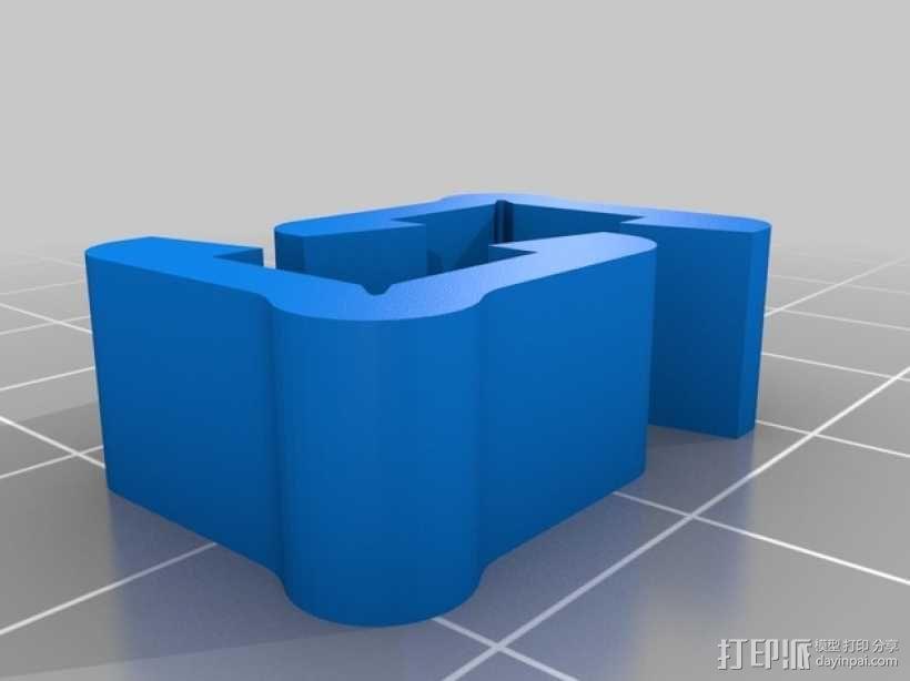 打印机材料夹  电缆夹 3D模型  图21