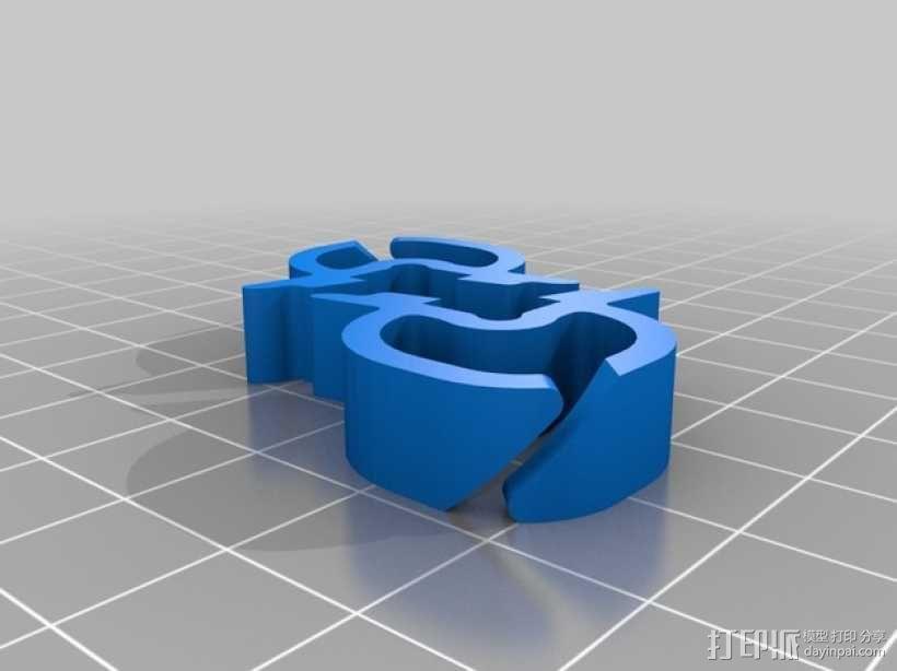 打印机材料夹  电缆夹 3D模型  图24
