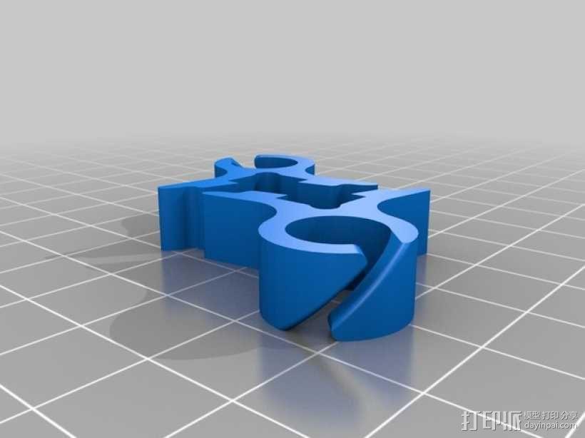 打印机材料夹  电缆夹 3D模型  图23