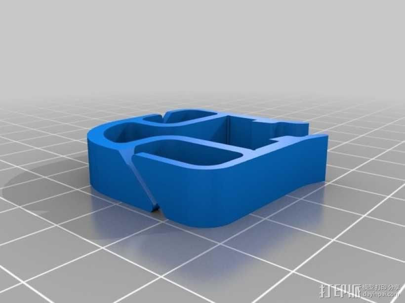 打印机材料夹  电缆夹 3D模型  图26