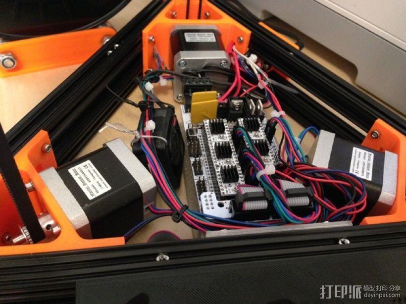 Kossel Mini RAMPS1.4 打印机配件固定装置 3D模型  图1