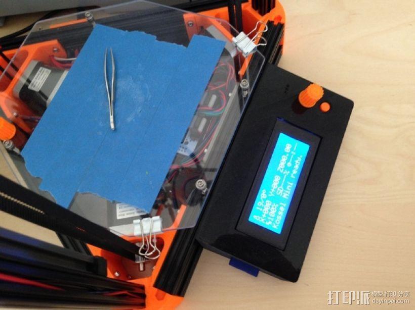 Kossel Mini RAMPS1.4 打印机配件固定装置 3D模型  图4