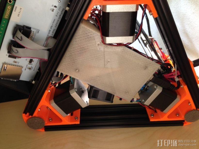 Kossel Mini RAMPS1.4 打印机配件固定装置 3D模型  图3