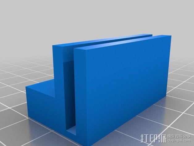 树莓派相机固定装置 3D模型  图2