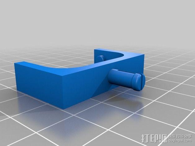 树莓派相机固定装置 3D模型  图3