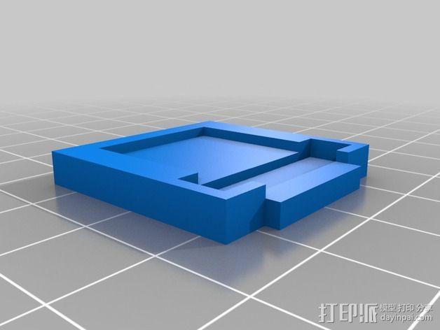 树莓派相机固定装置 3D模型  图4