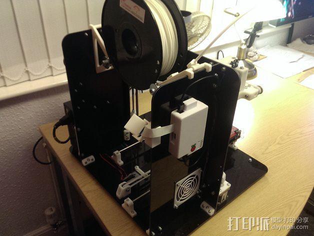 树莓派相机固定装置 3D模型  图7