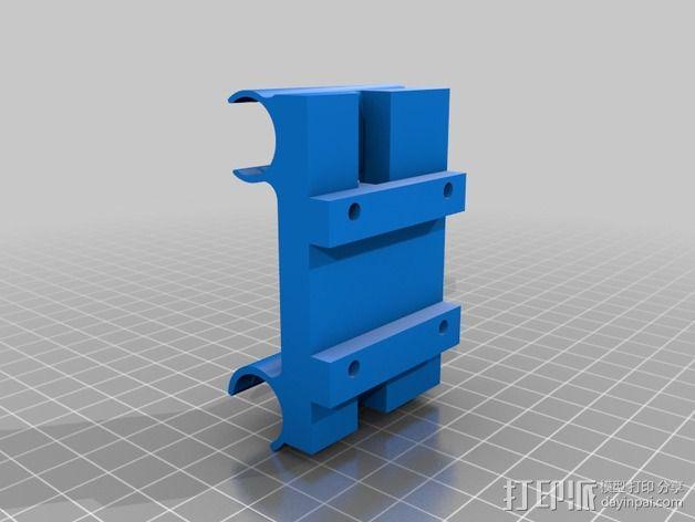 挤出机轴承架 3D模型  图2