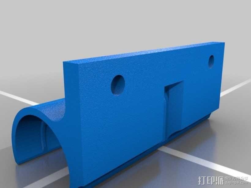 挤出机轴承架 3D模型  图1