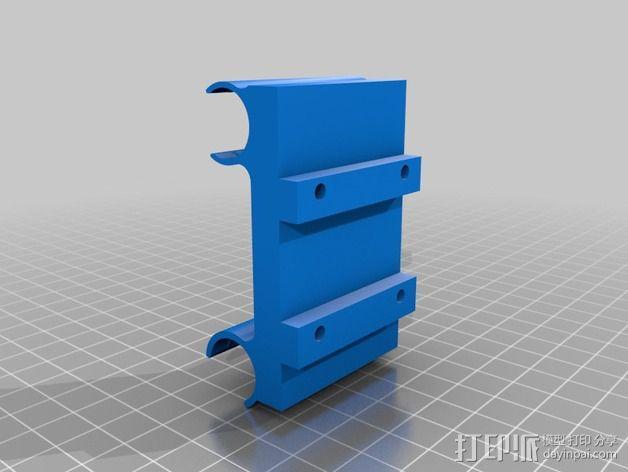 挤出机轴承架 3D模型  图3