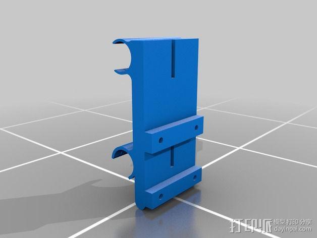 挤出机轴承架 3D模型  图4