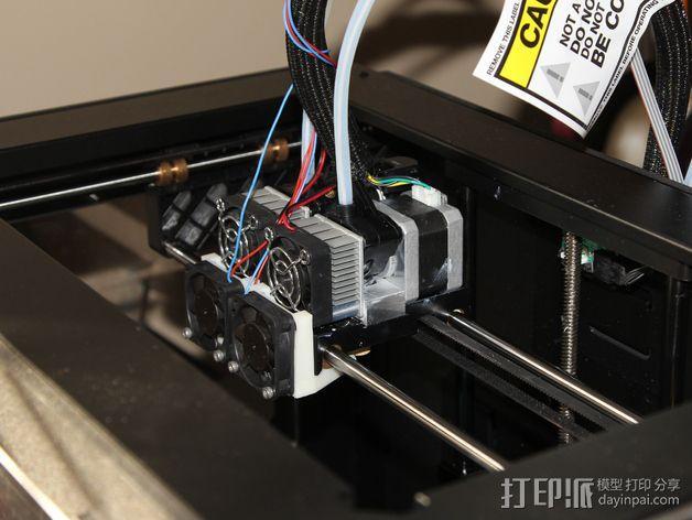 打印机风扇架 3D模型  图2