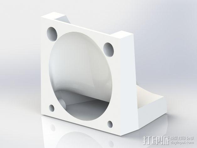 打印机风扇架 3D模型  图6