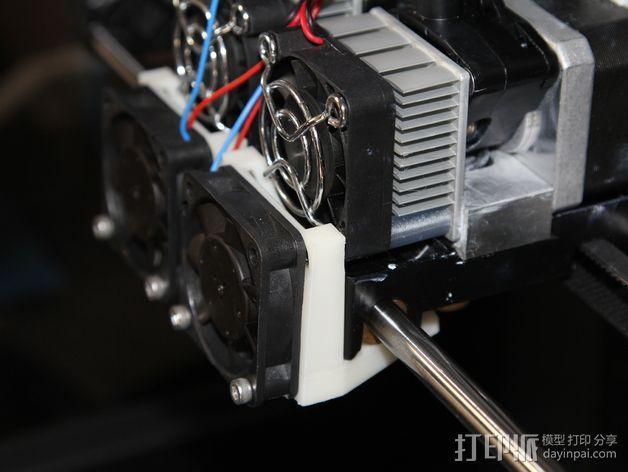 打印机风扇架 3D模型  图7