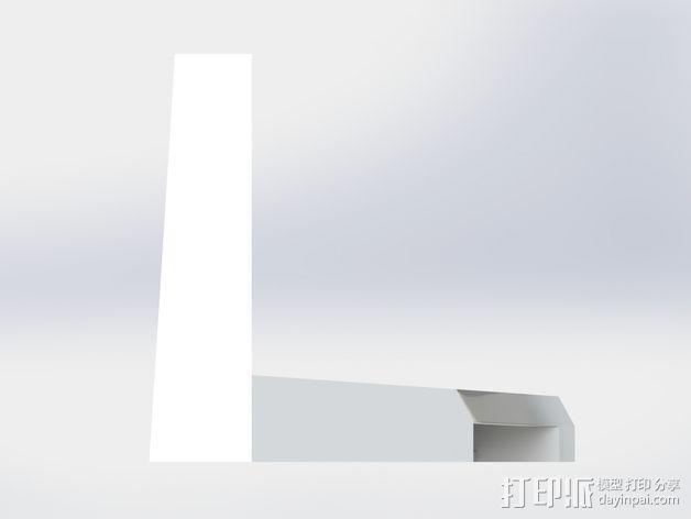 打印机风扇架 3D模型  图4